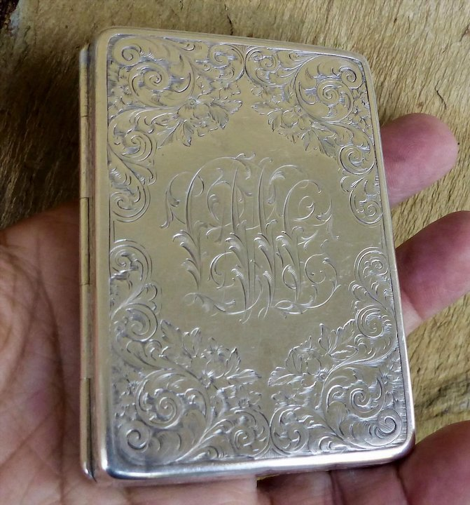 Antique Sterling Silver Tiffany & Co Business Card Holder : CC\'s ...