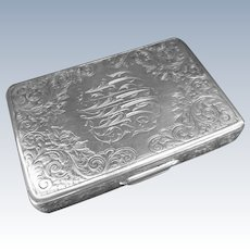 Antique Sterling Silver Tiffany & Co  Business Card Holder