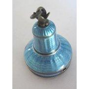Art Deco Guilloche Enamel bell shaped casing for Antique Watch