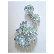 """Crackled"" Stone Juliana Pin & Earring Set"