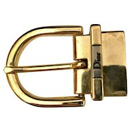 Designer Signed Christian Dior Belt Buckle. Jewelry for your waist!