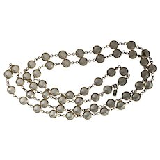 "Swarovski Long 18"" Drop Crystal Necklace"