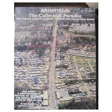 Unusual 1st edition Brimfield Mass antiques collectors guide book