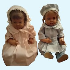 "Adorable Pair of 10 "" Celluloid Children"