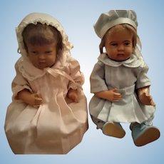"Adorable Pair of 10 "" Celluloid Children"