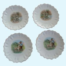 Set of 4 LIttle Plates with Children