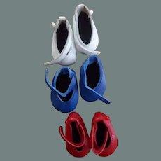 Boneka Leather  Shoes -three pair