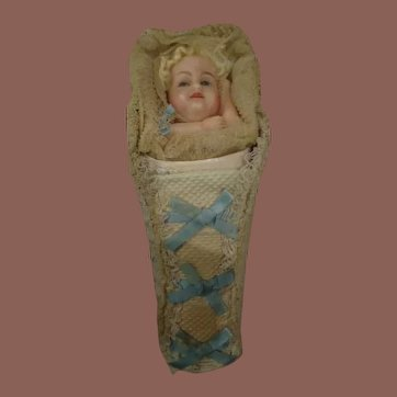 Wonderful Large Poured Wax Baby Candy Container