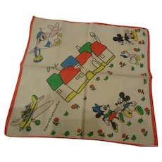 Vintage Walt Disney Handkerchief