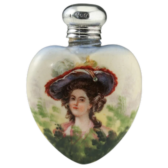1905 Porcelain Scent Perfume Bottle With Portrait Motif