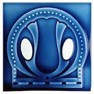 c.1900 NSTG German Art Nouveau Tile #3