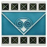 c.1905 Boizenburg German Art Nouveau tile #3