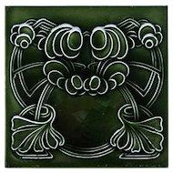 c.1905 English Art Nouveau tile #3