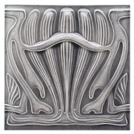 c.1905 M.O.&.P.F. German Art Nouveau tile #3