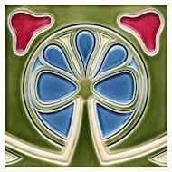 c.1910 Wessel German Art Nouveau tile #3