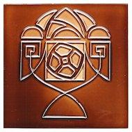 c.1920s Ceramiques Herent Belgium abstract tile #2