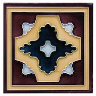 c.1905 German Art Nouveau tile, Tonwerk Offstein