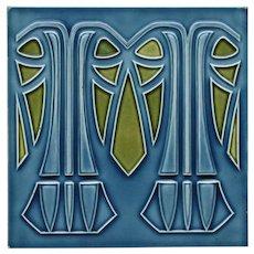 c.1905 M.O.&.P.F. German Art Nouveau tile