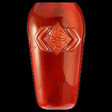 c.1930s French Legras Art Deco acid etched glass vase #2