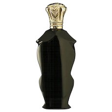 c.1860 French black amethyst scent perfume bottle, silver gilt top