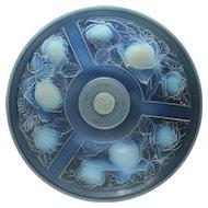 c.1930s Julien France Art Deco opalescent glass bowl on stand