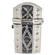 1796 Samuel Pemberton engraved silver scent perfume bottle etui