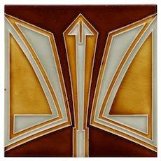Rare c.1910 NSTG German modernist tile