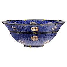 c.1920s Sèvres France floral enamelled crystal bowl