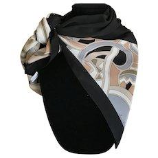 Vintage Ginnie Johansen Art Deco design silk scarf