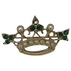 Vintage hat crown brooch pin Saint Patrick Day