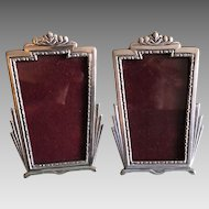 2 Vintage Pewter picture frames by Elias Artmetal New York