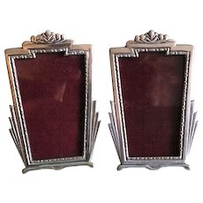 2 Vintage Pewter picture frames by Elias Artmetal New York - Red Tag Sale Item