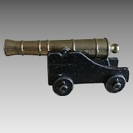 Vintage miniature Penncraft  metal cannon made in USA