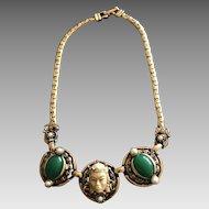 Vintage Selro Selini Film Noir Princess Necklace