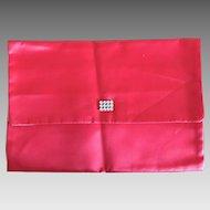 Vintage Christian Dior Red satin lingerie envelope