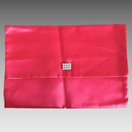 Vintage Christian Dior Red satin lingerie envelope
