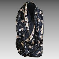 Vintage whimsical nylon elephant scarf