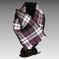 Vintage Tartan Plaid Scottish Wool Scarf