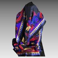 Vintage silk Perry Ellis scarf Fleur de Lys