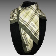 Vintage Loredano Italy silk scarf earth tones