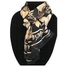 Vintage Bill Blass pure silk jacquard scarf wrap