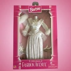 Vintage Barbie winter wedding ensemble dress, veil, shoes, snowflake bouquet in original box