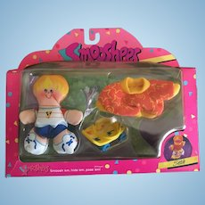 Vintage Fisher Price Smooshees Cuddlers on the Go Seth boxed set