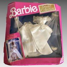Vintage Barbie Private Collection wedding ensemble, gown, shoes, veil