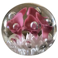 Vintage Maude and Bob St Clair crystal paperweight