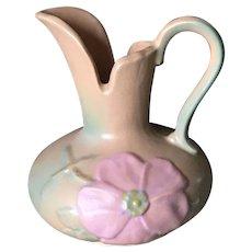 Weller Pottery pink dogwood blossom ewer