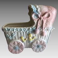 Vintage Baby Buggy Musical Planter
