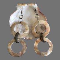 Vintage Mother of Pearl Dangling Earrings