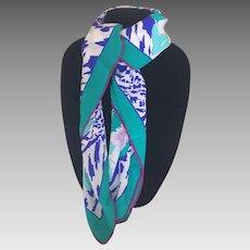 Vintage Silk Scarf by Da Maren Italy
