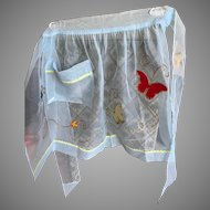 Vintage Butterfly Sheer Hostess Apron